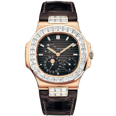 Patek Philippe Nautilus Moon Phase 40mm 5712R Black Dial-First Class Timepieces
