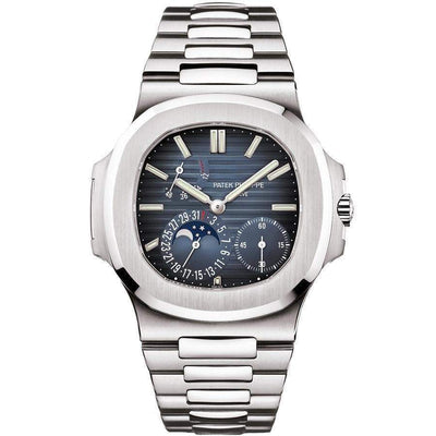 Patek Philippe Nautilus Moon Phases 40mm 5712/1A Blue Dial - First Class Timepieces