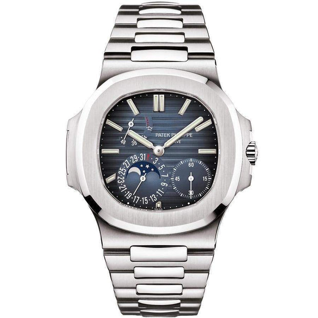 Patek Philippe Nautilus Moon Phases 40mm 5712/1A Blue Dial-First Class Timepieces