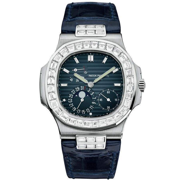 Patek Philippe Nautilus Moon Phases 40mm 5712G Blue Dial-First Class Timepieces