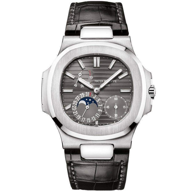 Patek Philippe Nautilus Moon Phases 40mm 5712G Slate Grey Dial-First Class Timepieces