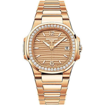 Patek Philippe Nautilus Quartz 32mm 7010/1R Golden Dial - First Class Timepieces