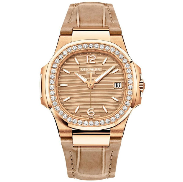 Patek Philippe Nautilus Quartz 32mm 7010R-012 Golden Dial-First Class Timepieces