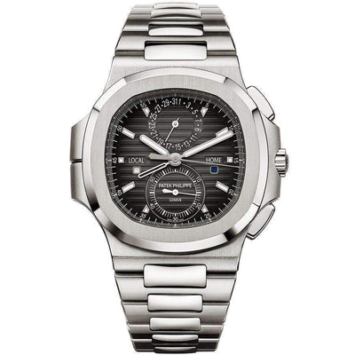 Patek Philippe Nautilus Travel Time Chronograph 40mm 5990/1A Black Dial - First Class Timepieces