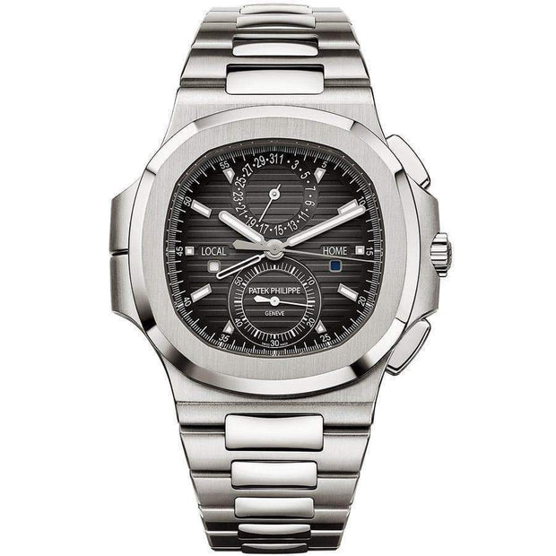 Patek Philippe Nautilus Travel Time Chronograph 40mm 5990/1A Black Dial-First Class Timepieces