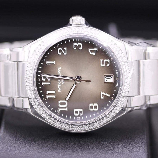 Patek Philippe Round Automatic Twenty-4 36mm 7300/1200A Grey Sunburst Dial - First Class Timepieces