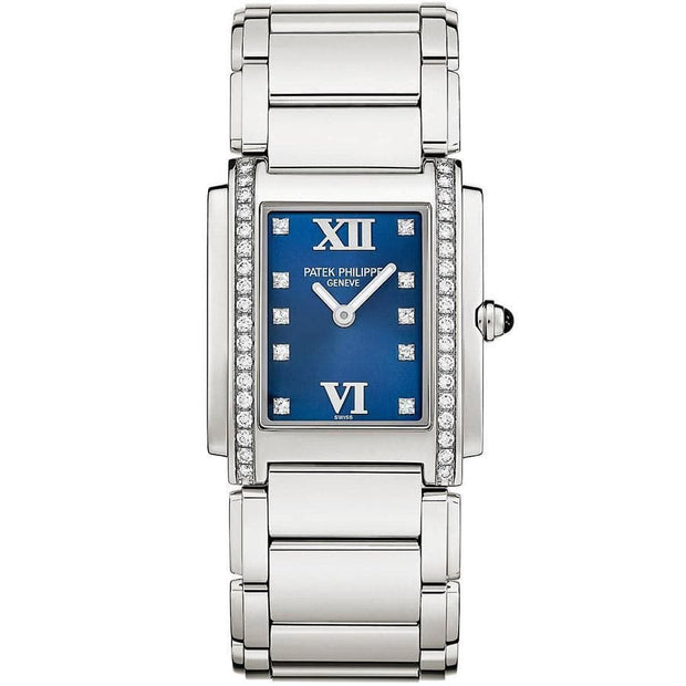 Patek Philippe Twenty-4 Quartz 25mm 4910/10A-012 Blue Dial - First Class Timepieces