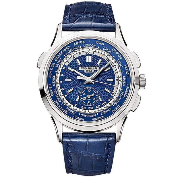 Patek Philippe World Time Chronograph Complication 39mm 5930G Blue Dial-First Class Timepieces