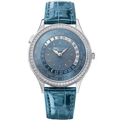 Patek Philippe World Time Complication 36mm 7130G Blue Dial - First Class Timepieces