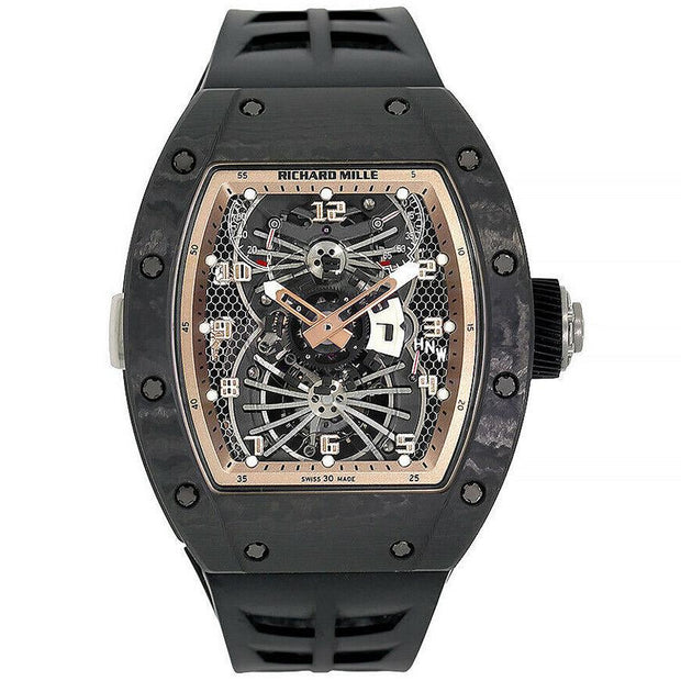 Richard Mille Limited Edition Asia Carbon Dual Time Tourbillon RM022 48mm Overworked Dial-First Class Timepieces