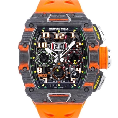 Richard Mille Limited Edition McLaren Flyback Chronograph RM11-03 Carbon 50mm Overworked Dial-First Class Timepieces