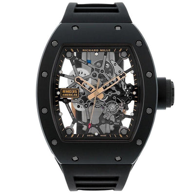 "Richard Mille Limited Edition Rafael Nadal ""Americas Black Toro"" RM035 48mm Overworked Dial-First Class Timepieces"