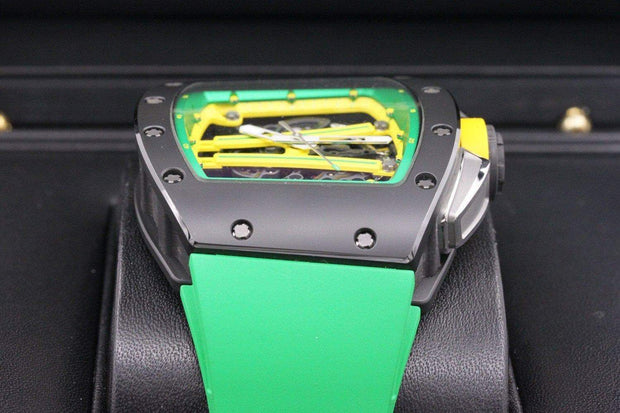 Richard Mille Limited Edition Yohan Blake RM061 Ceramic 50mm Overworked Dial Pre-Owned-First Class Timepieces