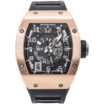 Richard Mille RM010 Rose Gold 48mm Overworked Dial-First Class Timepieces