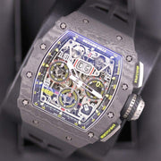 Richard Mille RM11-03 Carbon Flyback Chronograph 50mm Overworked Dial-First Class Timepieces