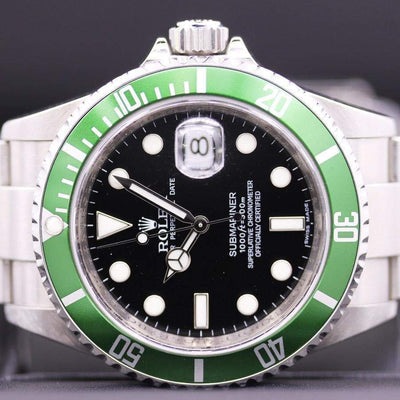 Rolex 50th Anniversary Kermit Submariner 16610LV Pre-Owned-First Class Timepieces