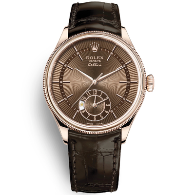 Rolex Cellini Dual Time Men's-50525 BRBR-First Class Timepieces