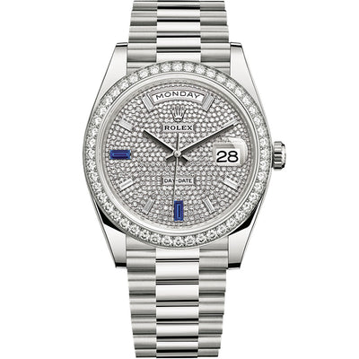 Rolex Day-Date 40 Presidential 228349 Diamond Bezel Diamond Paved Dial