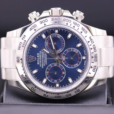 Rolex Daytona 40mm 116509 Blue Dial Pre-Owned-First Class Timepieces