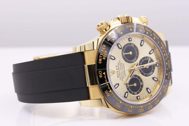 Rolex Daytona Oyster Flex 40mm 116518LN Gold Dial Pre-Owned-First Class Timepieces
