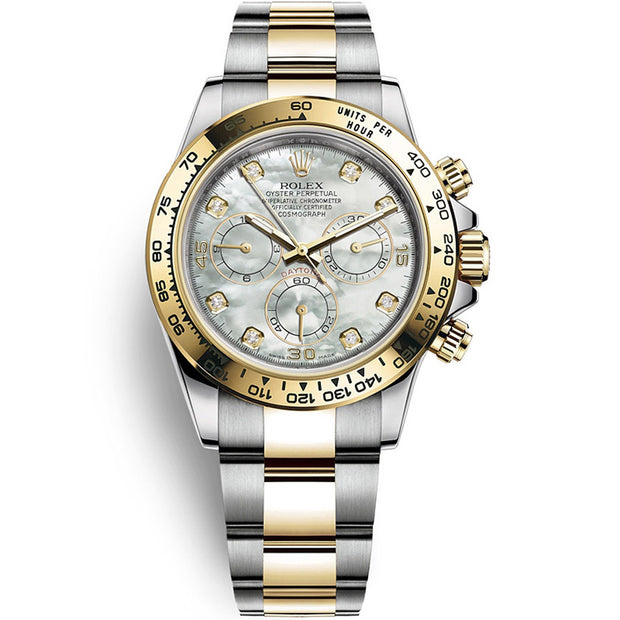 Rolex Daytona 40mm 116503 White Mother Of Pearl Diamond Dial