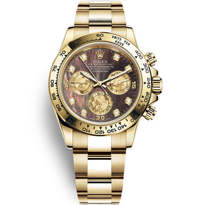 Rolex Daytona 40mm 116508 Black Mother Of Pearl Diamond Dial