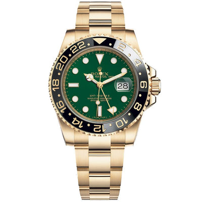 Rolex GMT-Master II 40mm 116718 Green Dial-First Class Timepieces