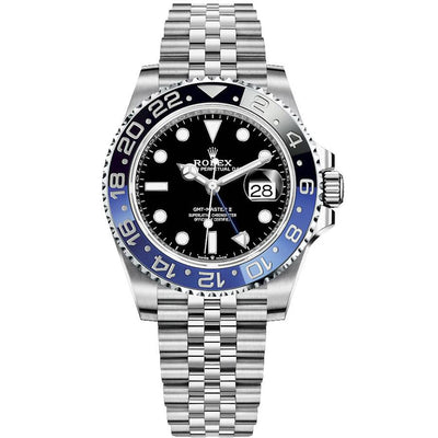 "Rolex GMT-Master II ""Batgirl"" 40mm 126710BLNR Black Dial-First Class Timepieces"