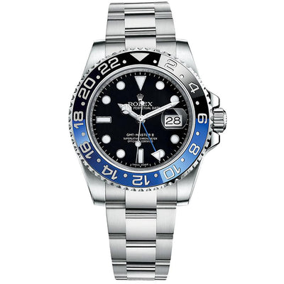 "Rolex GMT-Master II ""Batman"" 40mm 116710BLNR Black Dial-First Class Timepieces"