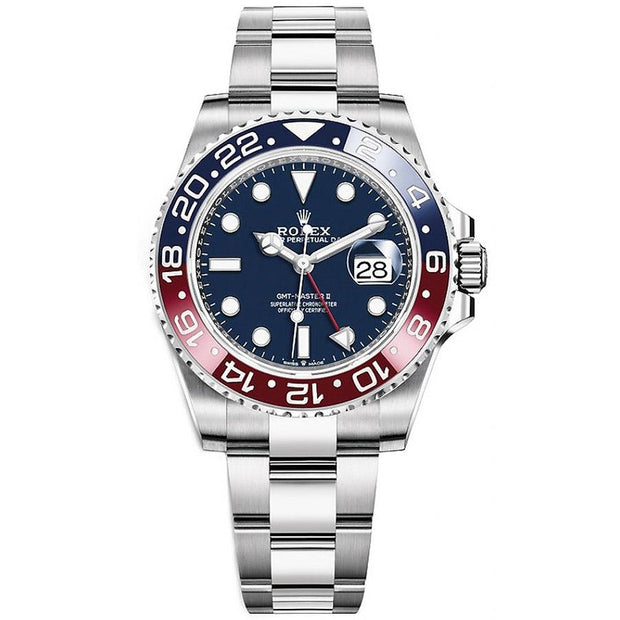 "Rolex GMT-Master II ""Pepsi"" 40mm 116719 BLRO White Gold Blue Dial-First Class Timepieces"