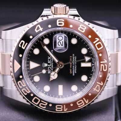 "Rolex GMT-Master II ""Root-Beer"" 40mm 126711CHNR Black Dial Pre-Owned-First Class Timepieces"
