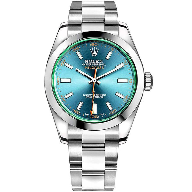 Rolex Milgauss 116400 40mm Blue Dial-First Class Timepieces