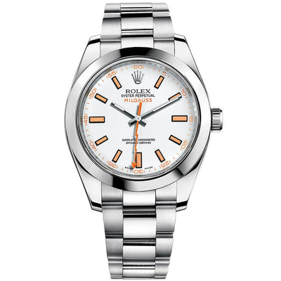 Rolex Milgauss 116400 40mm White Dial-First Class Timepieces