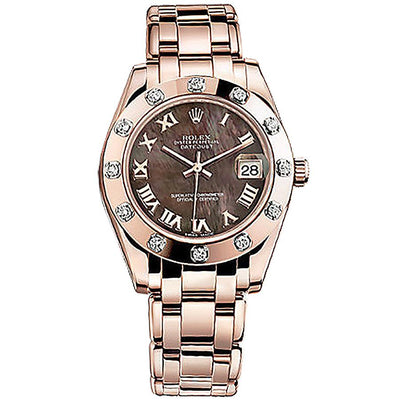 Rolex Pearlmaster 34 81315 Mother Of Pearl Dial-First Class Timepieces