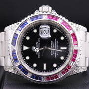 Rolex Submariner 40mm 16610 Black Dial Custom Bezel / Custom Case Pre-Owned-First Class Timepieces