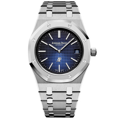 Audemars Piguet Limited Edition Royal Oak Extra-Thin 39mm 15202IP Smoked Blue Dial