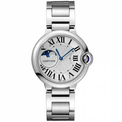 Cartier Ballon Bleu De Cartier 37mm WSBB0021 Silver Moon Phases Dial