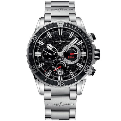 Ulysse Nardin Diver Chronograph 44mm 1503-151-7M/92 Black Dial-First Class Timepieces