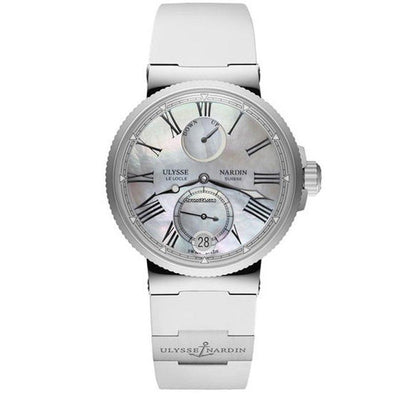 Ulysse Nardin Marine 39mm 1183-160-3/40 Mother Of Pearl Dial-First Class Timepieces