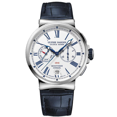 Ulysse Nardin Marine Chronograph 43mm 1533-150/E0 White Dial-First Class Timepieces