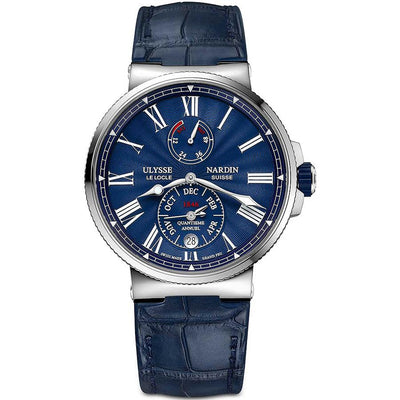 Ulysse Nardin Marine Chronometer 43mm 1133-210/E3 Blue Dial-First Class Timepieces