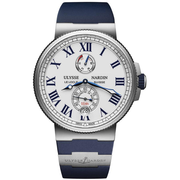Ulysse Nardin Marine Chronometer 45mm 1183-122-3/40 White Dial-First Class Timepieces