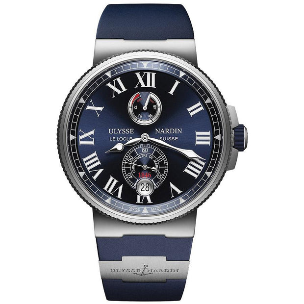 Ulysse Nardin Marine Chronometer 45mm 1183-122-3/43 Blue Dial-First Class Timepieces