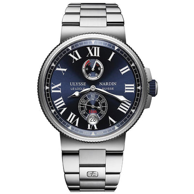 Ulysse Nardin Marine Chronometer 45mm 1183-122-7M/43 Blue Dial-First Class Timepieces