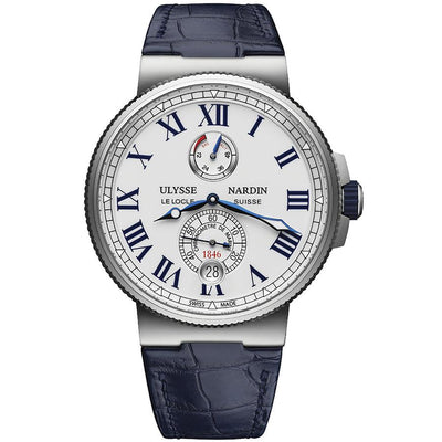 Ulysse Nardin Marine Chronometer 45mm 1183-122/40 White Dial-First Class Timepieces