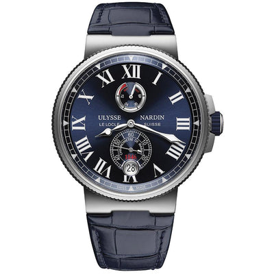 Ulysse Nardin Marine Chronometer 45mm 1183-122/43 Blue Dial-First Class Timepieces