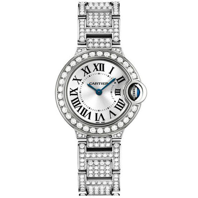 Cartier Ballon Bleu De Cartier 28mm Quartz WE9003ZA Silver Dial