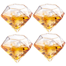 Load image into Gallery viewer, Diamond Decanter 4 Glasses Set