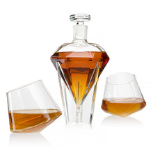 Load image into Gallery viewer, The Wine Savant Diamond Decanter Set Glass Holding Base With 2 Diamond