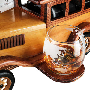 Vintage Car Decanter and Glasses Set